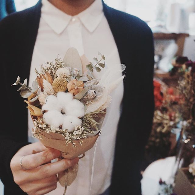 Derrick Jamie Bohemian Garden Wedding 19: Walk In / Small Bunch Of Light Orange & White / Photo By