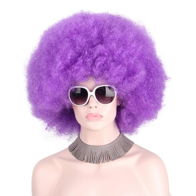 Synthetic Wigs Hair Extensions & Wigs Afro Clown Wig Big Top Fans Party Wigs Women Men Kids Curly Football Fans Wig None Lace Wigs Synthetic Hair Unsex
