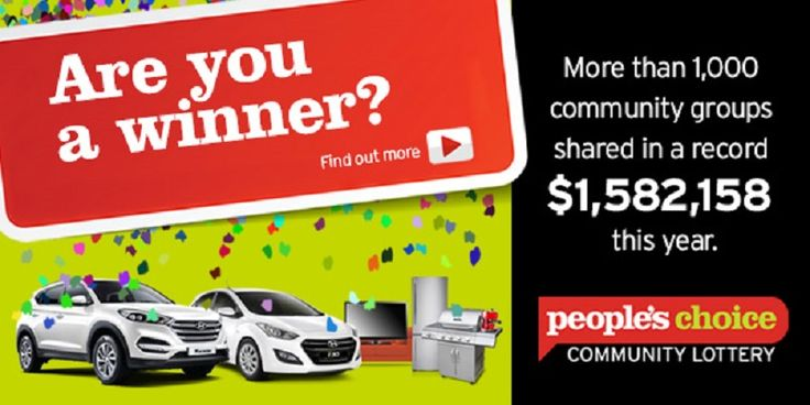 People's Choice Credit Union Community Lottery 2016 – Are You A Winner?  Thank you to everyone who has supported the 2016 People's Choice Credit Union Community Lottery this year!  Click here to learn more... http://adrianbriencars.com.au/blog/5529/peoples-choice-credit-union-community-lottery-2016-are-you-a-winner/