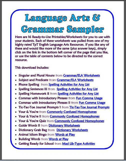 110 best images about GrammarPunctuationEditingRevising on – Middle School Language Arts Worksheets
