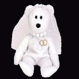 Mrs. the bride bear, Beanie Baby