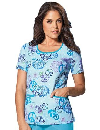 Style Code: CH-4802LE A round neck top that features binding around the neck and pockets. Also featured are front yoke, back darts and side vents.