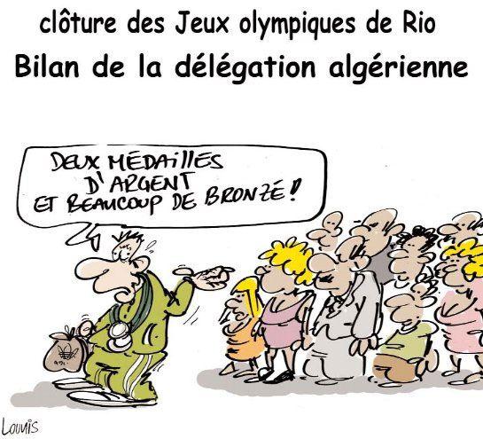 Lounis (2016-08-23) JO 2016: Algerie : Clôture des jeux olympiques de Rio: Bilan de la délégation algérienne