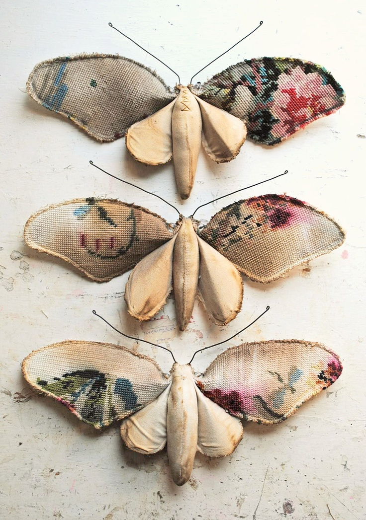 This would make a nice applique using my vintage kimono fabric.  Textile work By Mr Finch