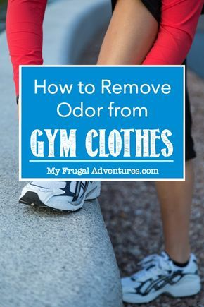 Gym clothes or sports clothes stink?  Here is a simple method to remove any odor from your gym clothes.