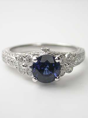 Blue Sapphire Engagement Ring, Love it,, love it!!!