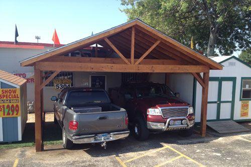Single Car Carport With Storage Area : Best dog kennels images on pinterest car