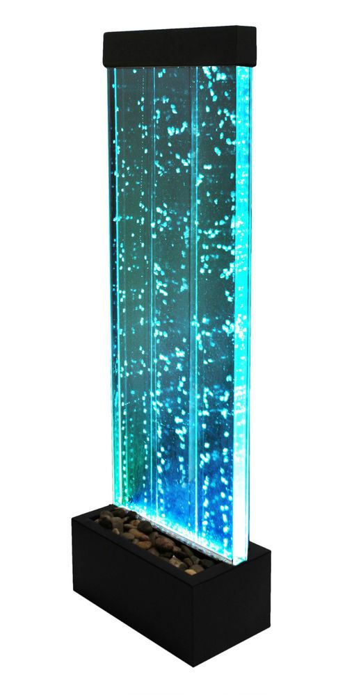 Large Feature Wall Lights : Bubble Water Feature Wall Cascade Indoor Fountain 1.23m Colour Changing Lights disco delight ...