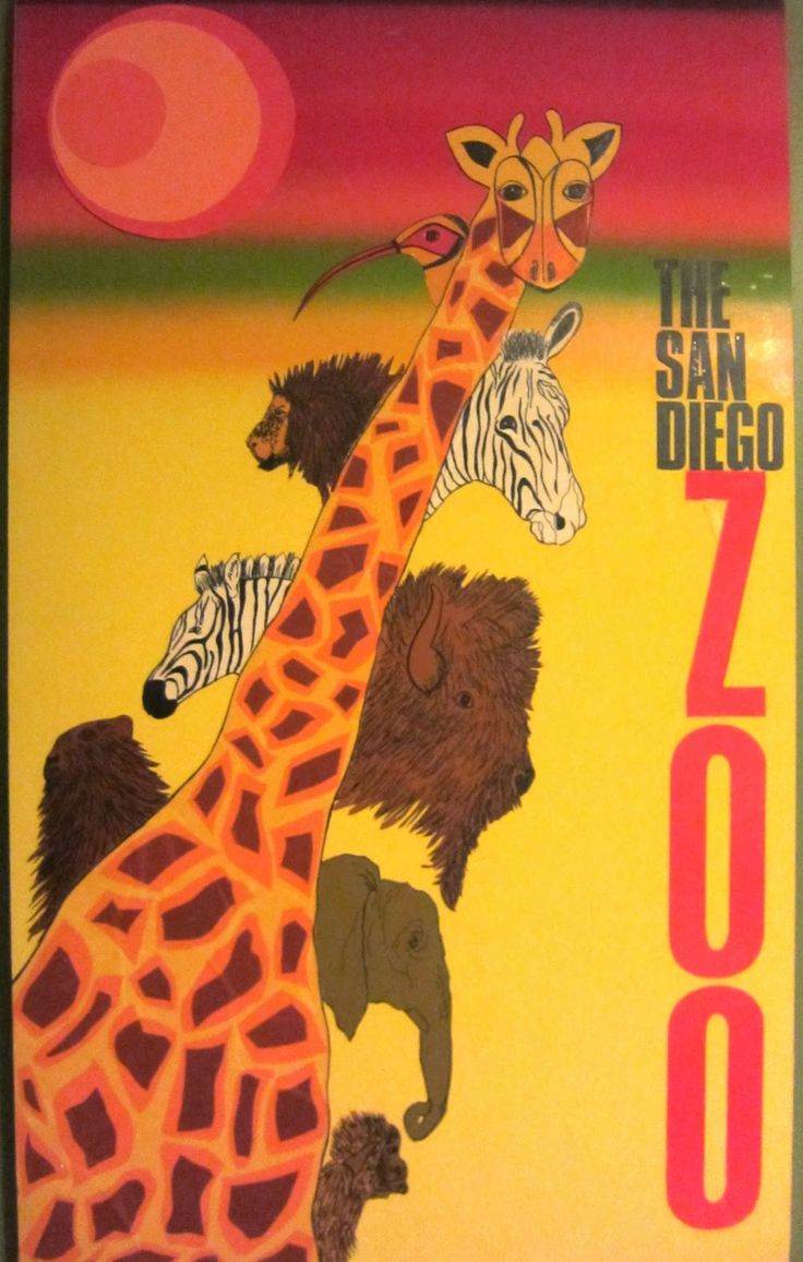 San Diego Zoo Poster - 1960s