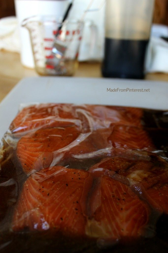 This simple marinade for Salmon caramalizes beautifully. Looks elegant, and so easy to make. MadeFromPinterest.net