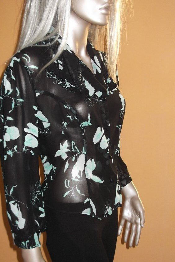 camicietta donna camicia nera a fiori top fiorato di modafranca