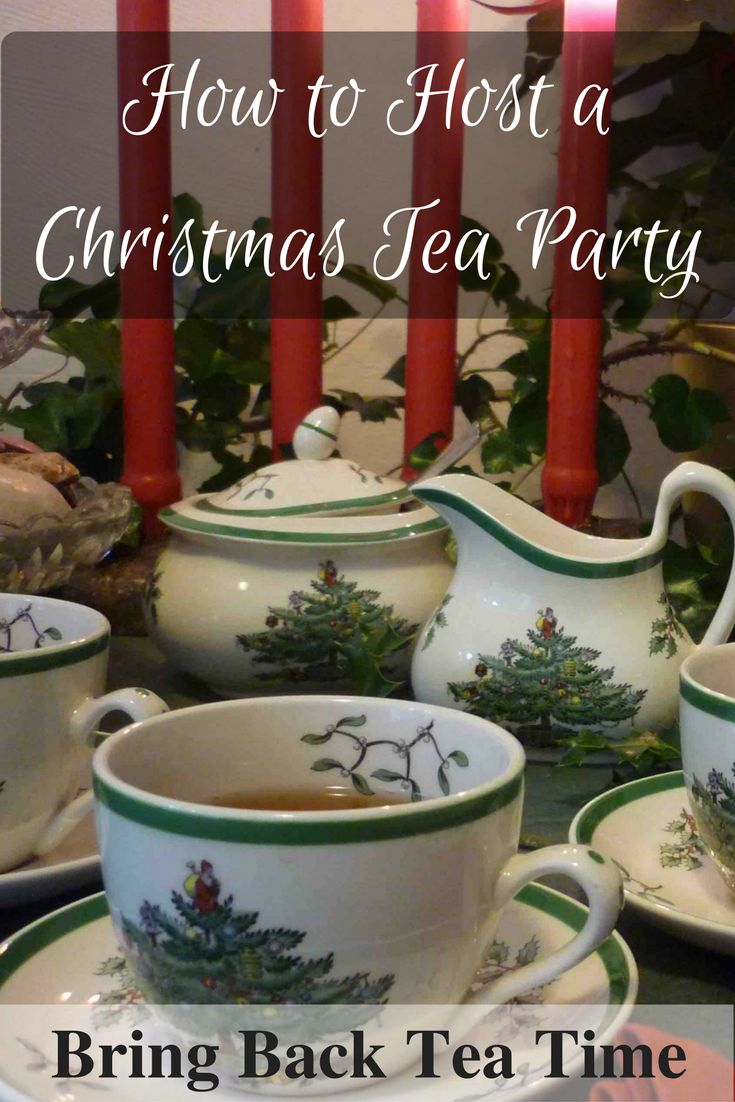 Suggestions on Planning a Holiday Tea Party