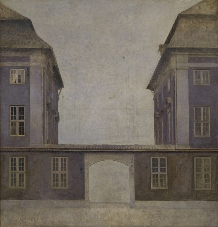 Vilhelm Hammershøi (1864-1916), 'The Buildings of the Asiatic Company, seen from St. Annæ Gade', 1902. KMS6657