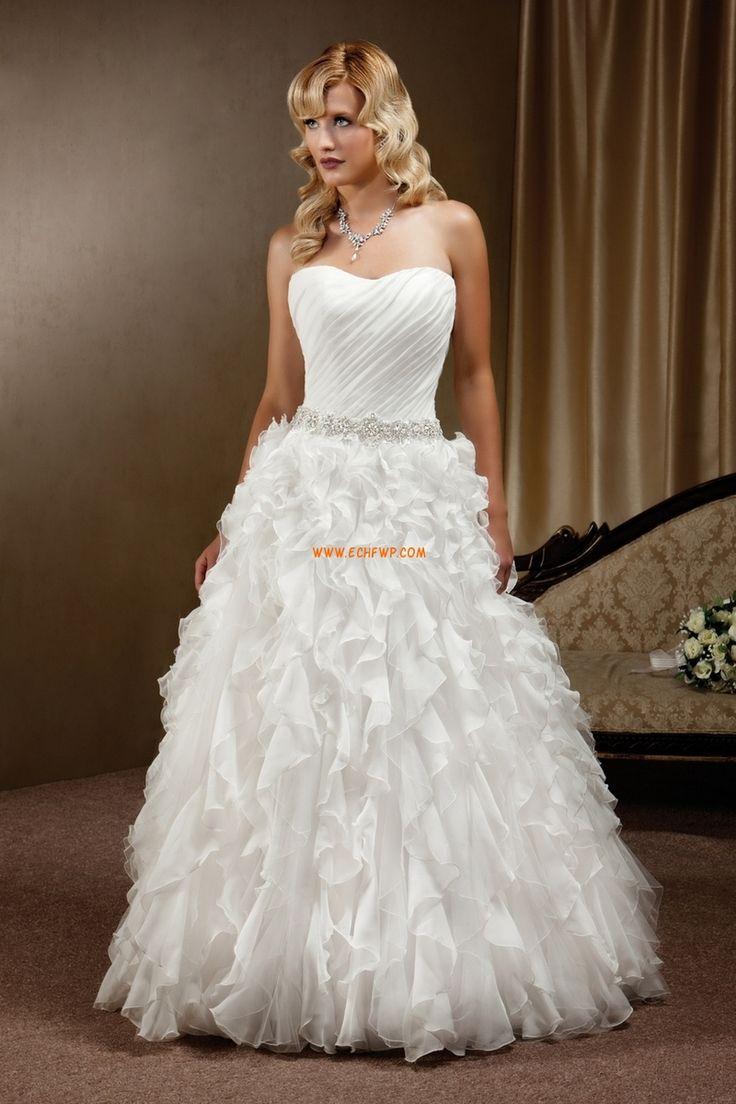 Hjärtformad Timglas Chic & Modern Lyx Bröllopsklänningar