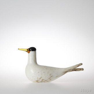 """Oiva Toikka Nuutajärvi (iittala) """"Arctic Tern"""" Annual bird 2000"""