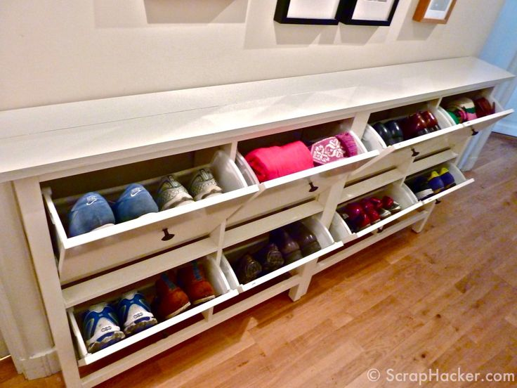 Double IKEA Hemnes Shoe Storage Cabinets   Hack (new Seamless Top Board). Part 69