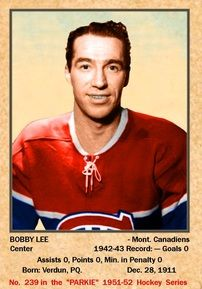 1943-44 Bobby lee