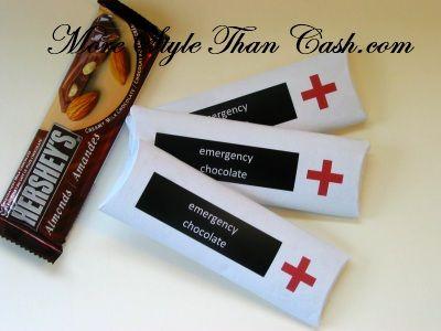 Emergency Chocolate - Free Printable.  Easy-to-do stocking filler!
