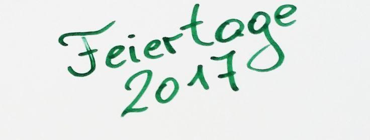 Feiertage 2017