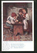 CPA Illustrateur München, drei des enfants trinken Kathreiner Malzkaffee 1908