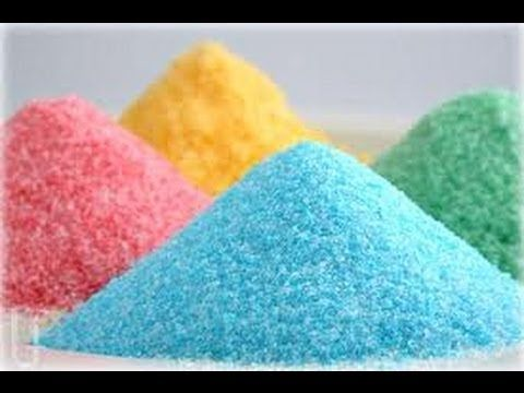 How to make colored sugar - YouTube