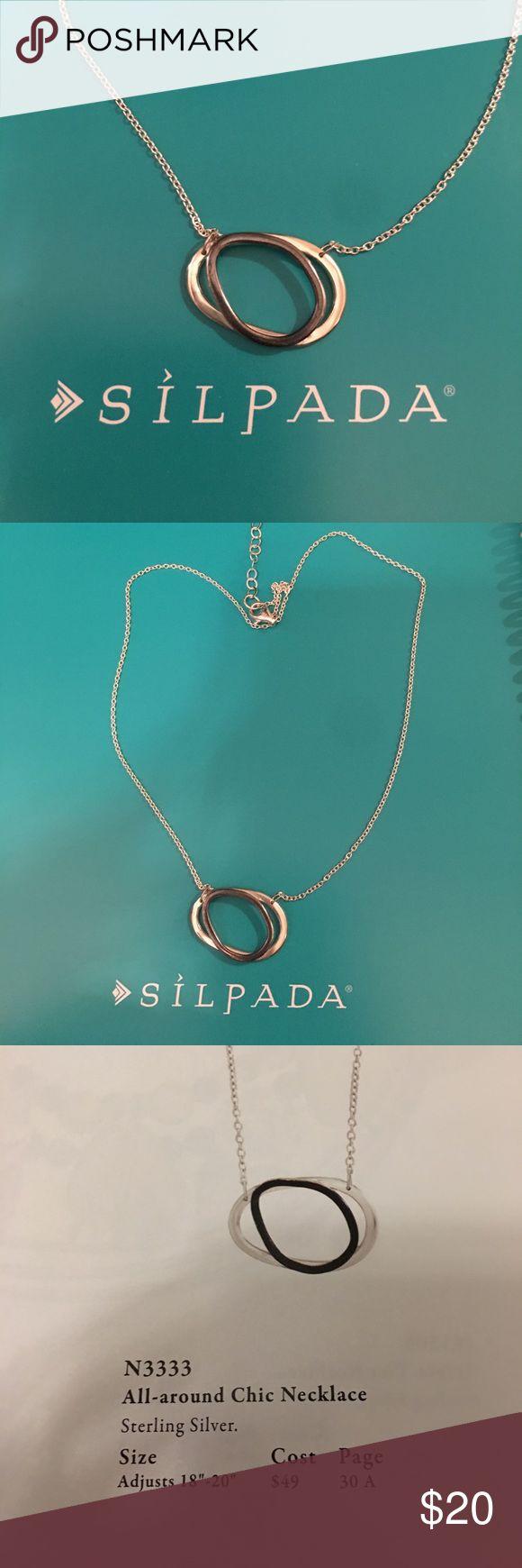 Silpada designs all around chic necklace sterling Silpada designs all around chic necklace sterling silver Silpada Jewelry Necklaces