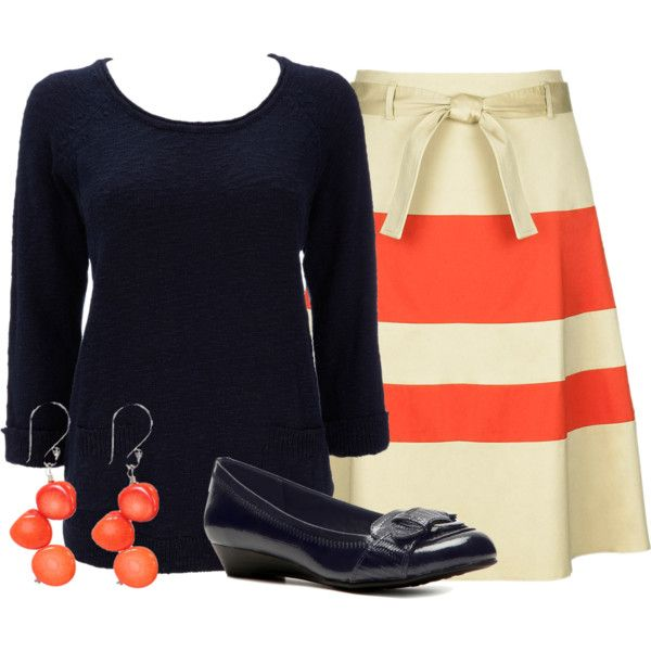 Oh my gosh, that skirt. I have to have it. From Teacher Outfits on a Teachers Budget 107 by allij28 on Polyvore.