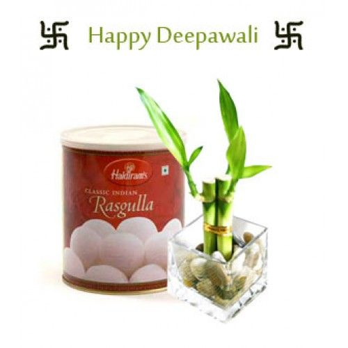 Celebrate This Diwali As A Eviromet Friedly  Cosists of:      Haldiram Rasgulla ad Love Couple Bamboos     Delivery available i limited cities     The image displayed i idicative i ature,actual product may vary slightly.     Please make sure you make the order well i advace. http://www.thetradeboss.com/product_detail.php?id=365