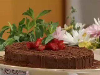 Cheescake de avellanas y chocolate :: www.virginiademaria.cl