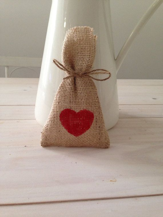 Red Hessian/ Burlap Wedding Favor Bags by BreeWestwood on Etsy, $1.50