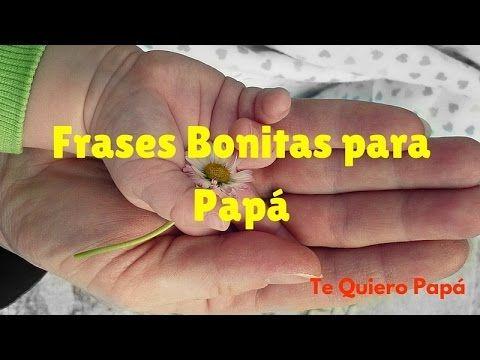 FRASES BONITAS PARA PAPA - FELIZ DIA DEL PADRE