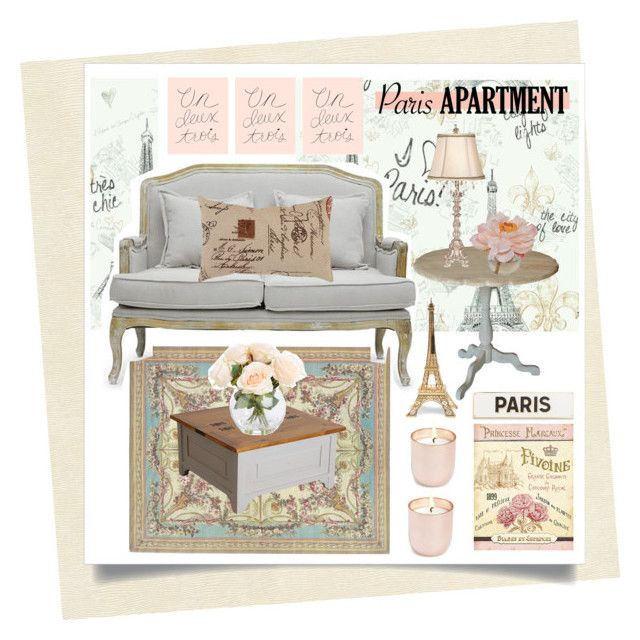 """Paris Appartment"" by alaria ❤ liked on Polyvore featuring interior, interiors, interior design, home, home decor, interior decorating, Versace, Dollhouse, York Wallcoverings and Pillow Perfect"
