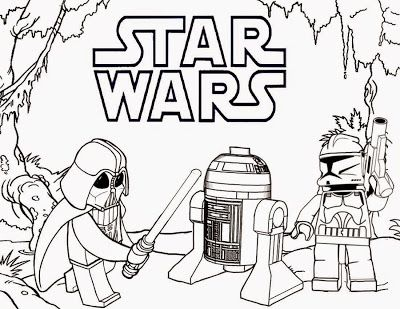 clipart printable minifigure people darth vader r2 d2 star wars lego coloring book pages for teens