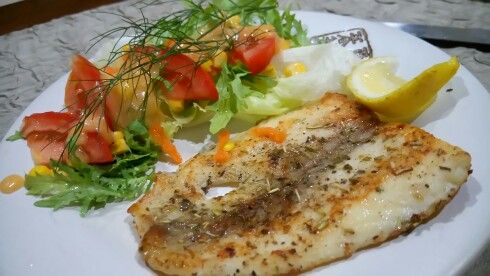 Grill dori with veggie salad