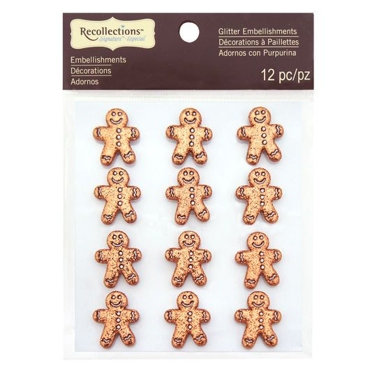 Gingerbread Man Glitter Embellishments by Recollections™