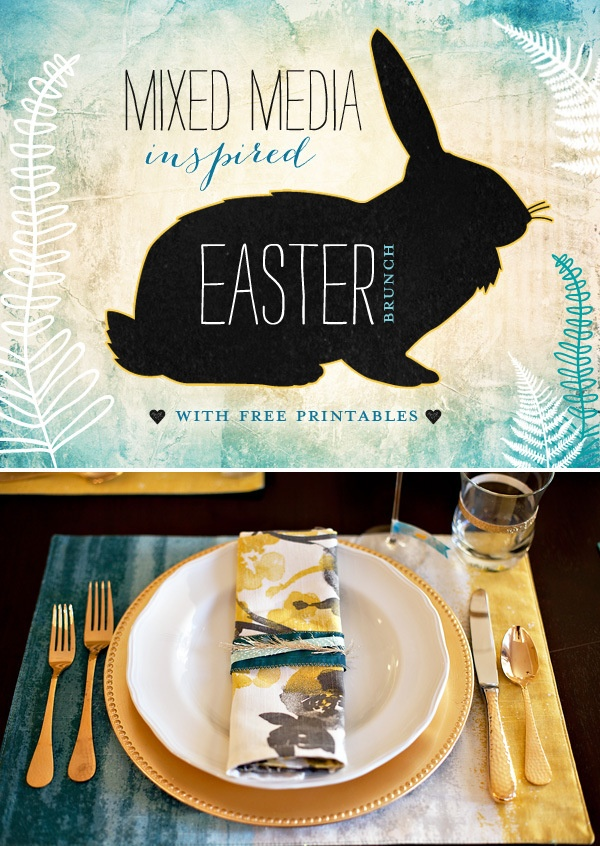 Easter Brunch Table Inspiration + Free Printables