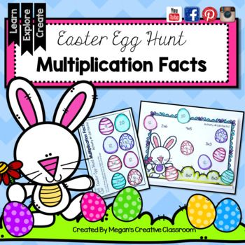 Easter Egg Hunt {Multiplication Cut and Paste}By Megan's Creative ClassroomPerfect for Grade 2 Grade 3 and Grade 4 and differentiating in Grade 5This is such a fun multiplication fact practice packet! Students cut and paste eggs to create adorable Easter Egg Hunt Scenes and practice their facts as well!!This packet includes: - Cut and Paste multiplication fact practice - Cute Easter graphics - Teaching Tips for Using this product (see preview) - 12 Different Versions with Multiplication…