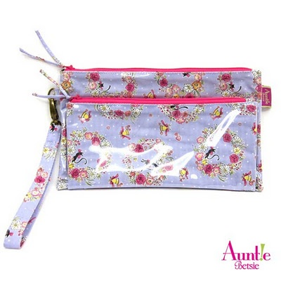 Double Decker Pouch US$12   Very suitable to replace your purse, especially when traveling. Put your money. cards, keys in the back pouch and your cellphones in the front pouch!