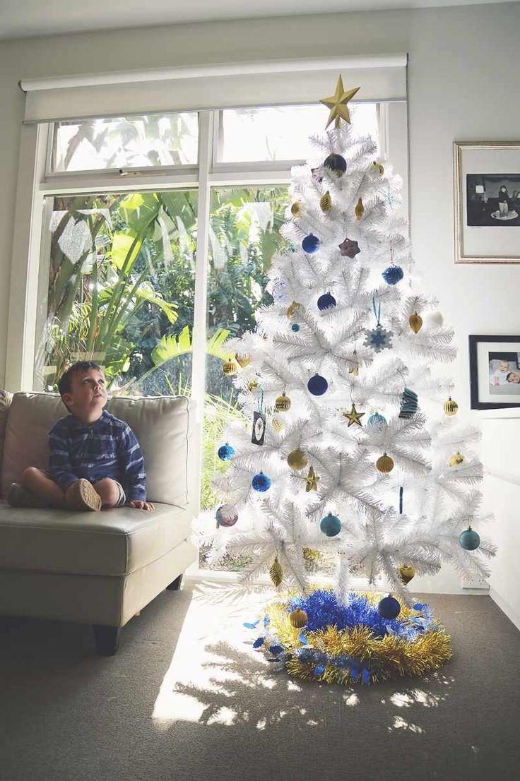 Assez Sapin de Noël blanc qui apportera la magie de Noël chez vous  DG66