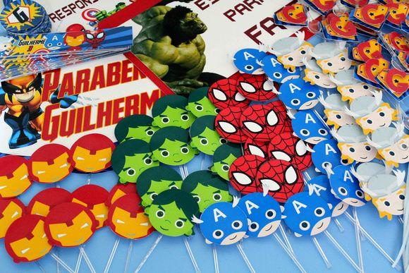 Kit Festa Super-heróis
