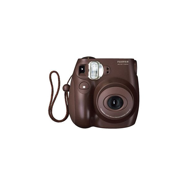 FUJIFILM Instant Camera – Instax Mini 7S Choco | Filles de Luxe ❤ liked on Polyvore featuring fillers, camera, accessories, tech and electronics