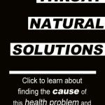 Strep Throat natural solutions and an index of other natural solutions to health problems on MyNaturalFamily.com #health #natural Focus on the cause of your health symptoms and take charge of your health!