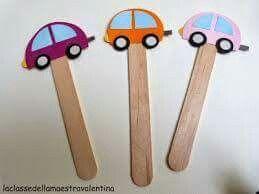 Cars on a stick