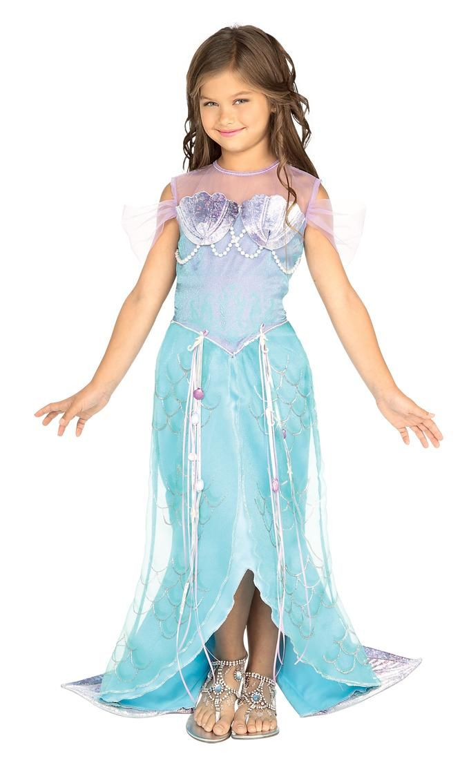 Mermaid Costumes for Girls | Girls blue mermaid costume Toddler ages 1-2 years Includes dress