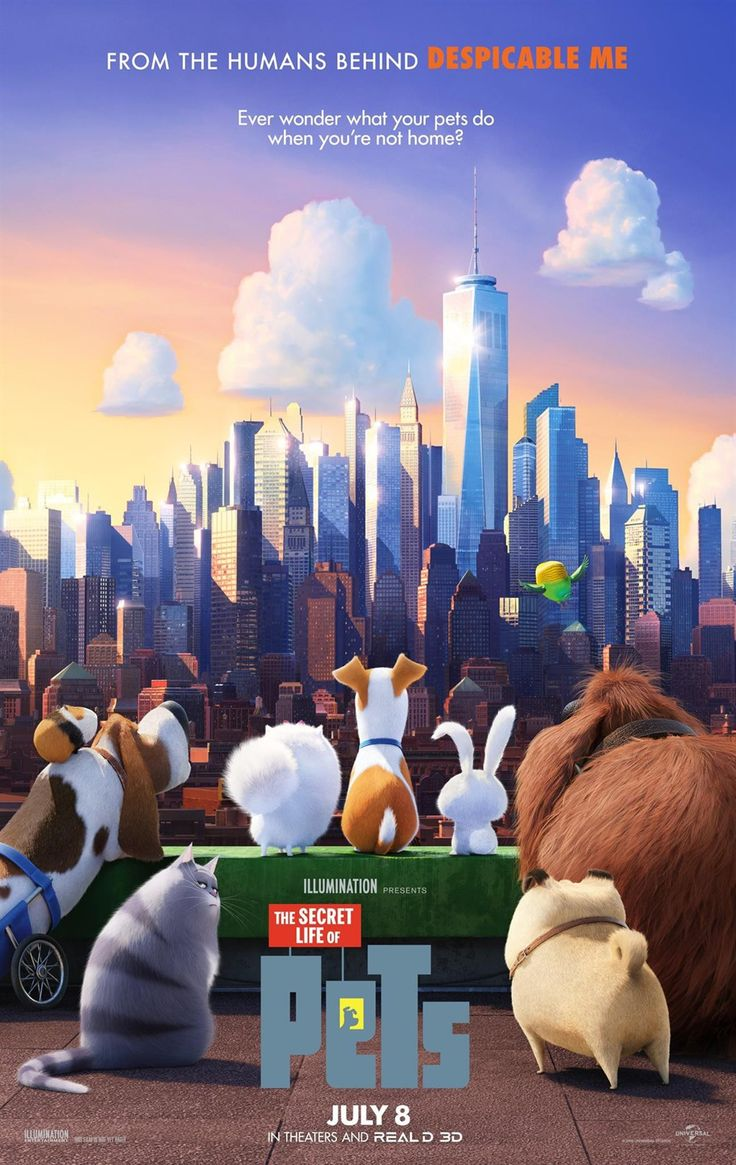The Secret Life Of Pets (2016) #movie_poster #3dcartoon #pets