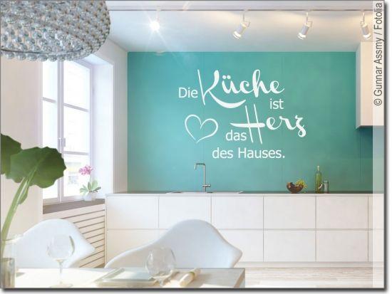 Wandtattoo Die Küche ist das Herz | Wandtattoo Sprüche in ...