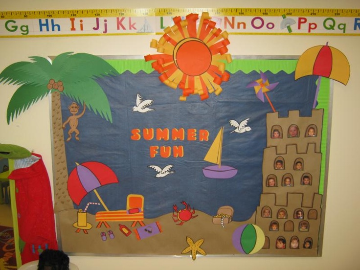 Summer Themed Classroom Decorations ~ Summer bulletin board idea decoración salón de clases