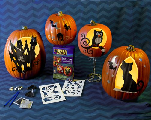 the power of paint and carving combined pumpkin masters paint carve pumpkin decorating kit