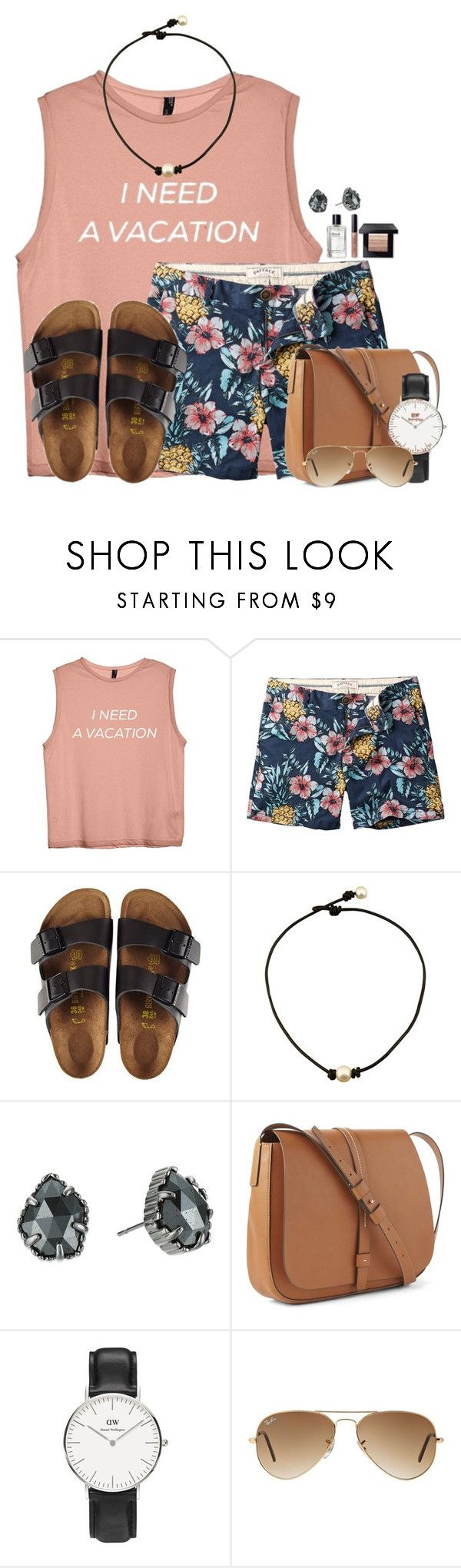 """""""We all need a vacation..."""" by victoriaann34 ❤ liked on Polyvore featuring Fat Face, Birkenstock, Kendra Scott, Gap, Daniel Wellington, Ray-Ban and Bobbi Brown Cosmetics"""