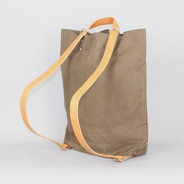 tembea | school bag in khaki canvas (tote and/or backpack!)